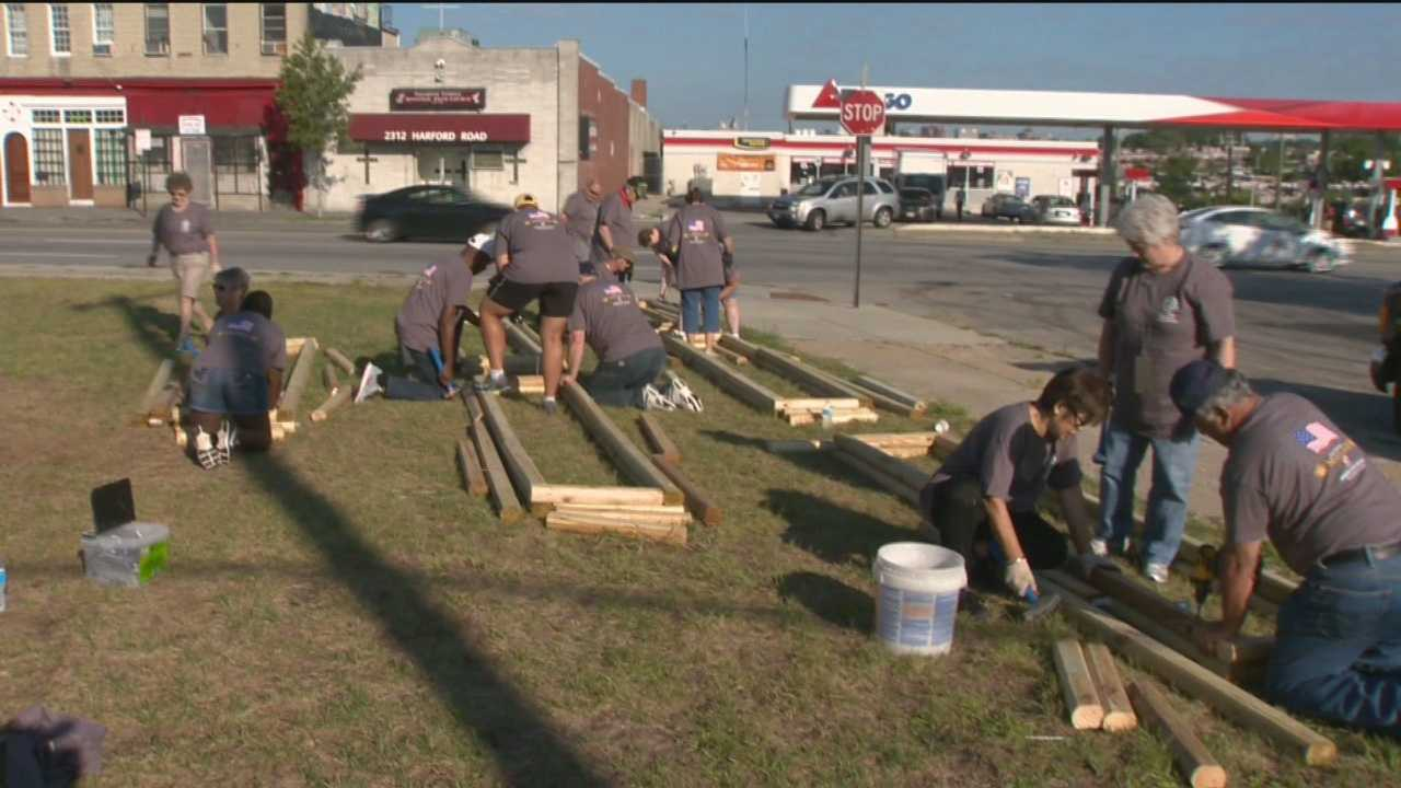 The American Legion is holding its 97th annual convention in Balimore. More than 10,000 veterans are here for the weekend, and Friday dozens spent the day in east Baltimore clearing out debris and building something for the whole community to enjoy.