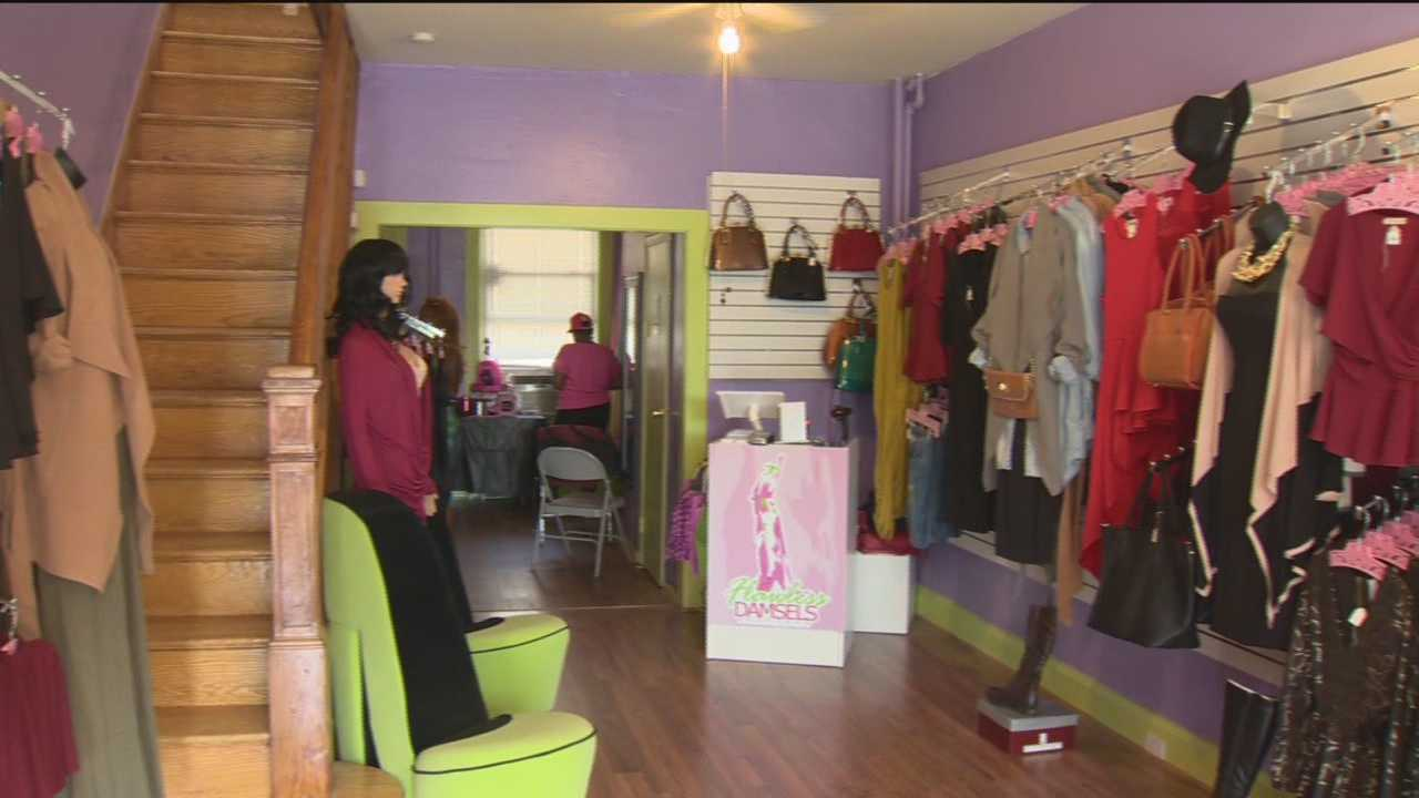 Taylor Alexander's boutique reopened for business Saturday. Getting all the merchandise that's displayed on ornate pink hangers wasn't easy for the small business owner. Her shop, Flawless Damsels Boutique, was vandalized and looted during April's riots. Alexander said she's working hard to make sure her business succeeds. With new merchandise and a fresh perspective, Alexander said she's grateful to open her store for the second time.