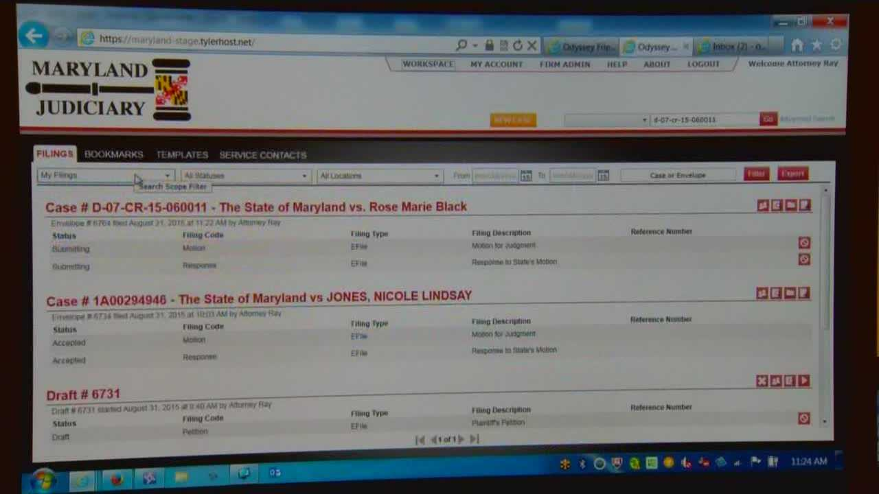 Some Maryland courts are testing an electronic filing system, but going paperless is having some pitfalls. The Maryland court system is trying to streamline the courts by reducing the use of paper, introducing an electronic filing and case information system. The change is out of necessity, according to the Maryland courts, as they try to move away from outdated systems. And as they do, they're finding problems that must be resolved to make the new system efficient.