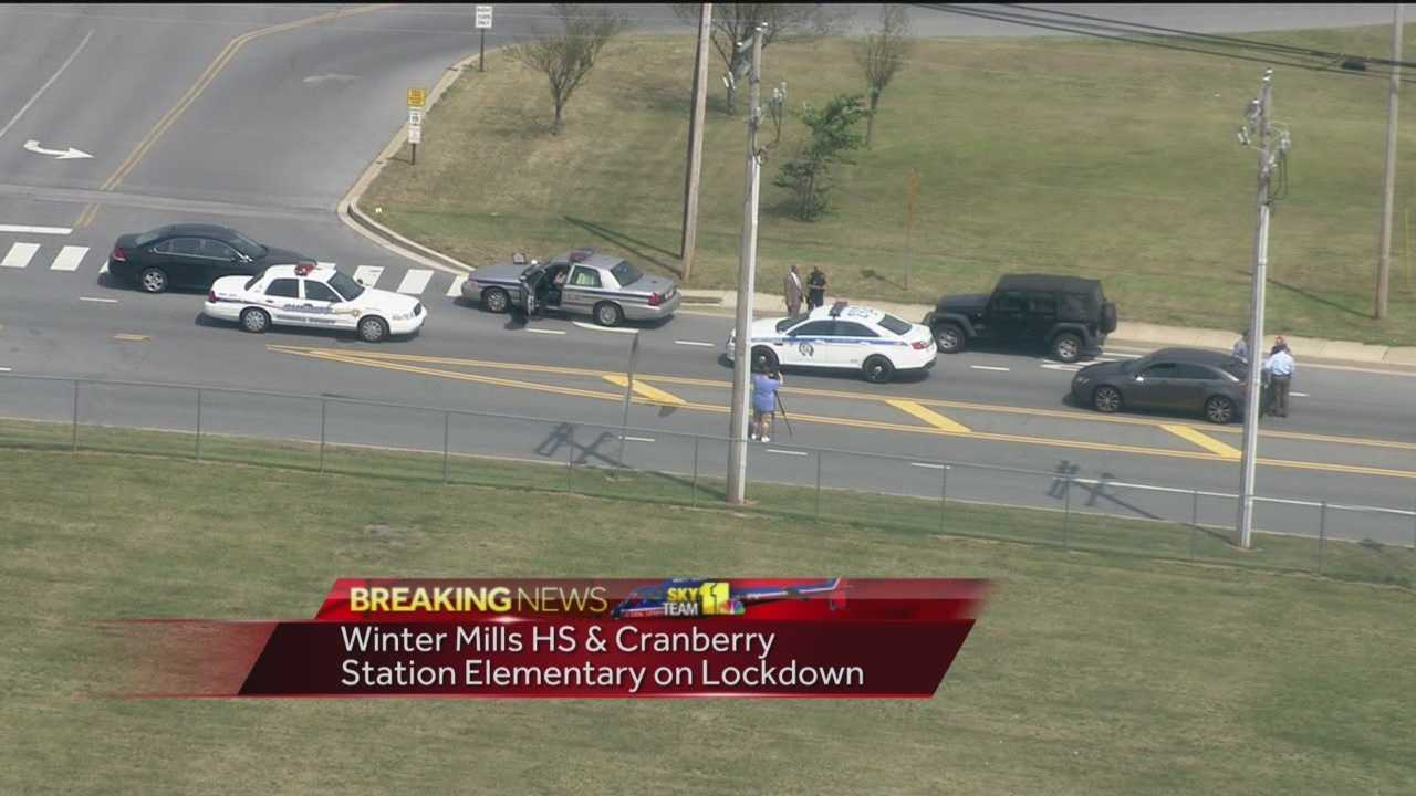 Two Carroll County schools were placed on lockdown Tuesday as police in Westminster search for a suspect in the area. According to the Carroll County Sheriff's Office, Winters Mill High School and Cranberry Station Elementary were placed on modified lockdown around 9:45 a.m. as a precaution.