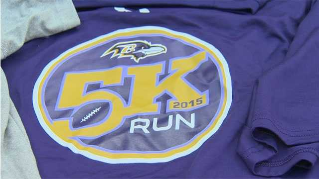 A 5K race is just one event planned next week by the Ravens in preparation of their 20th season in Baltimore.