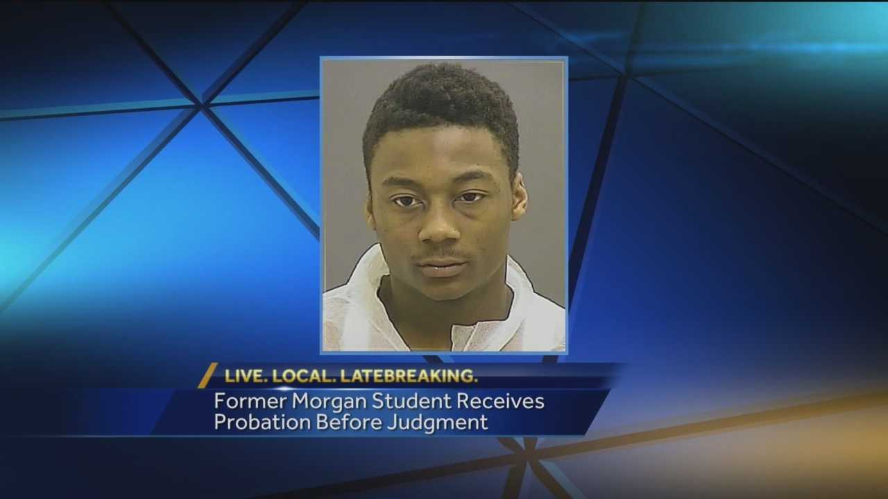 A former Morgan State student received probation before judgement in a stabbing during a fight this past spring. The student said the stabbing was in self defense.