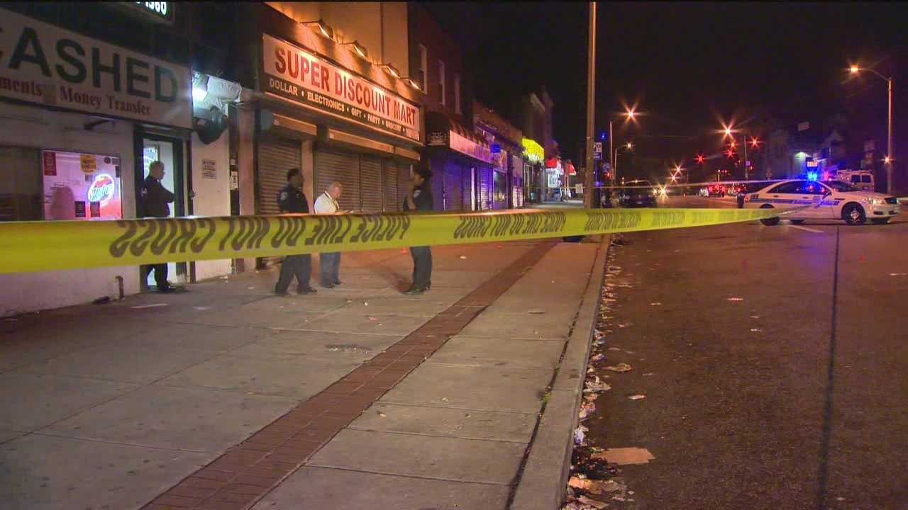 A child was among those injured in a triple shooing in west Baltimore, city police said.
