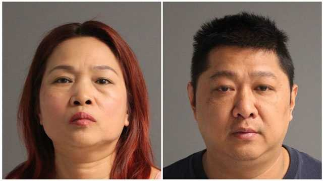 Qiu Rong Shang, 51, Jun Zhu, 47, both of Flushing, N.Y., were arrested as part of a prostitution investigation of a Glen Burnie spa.