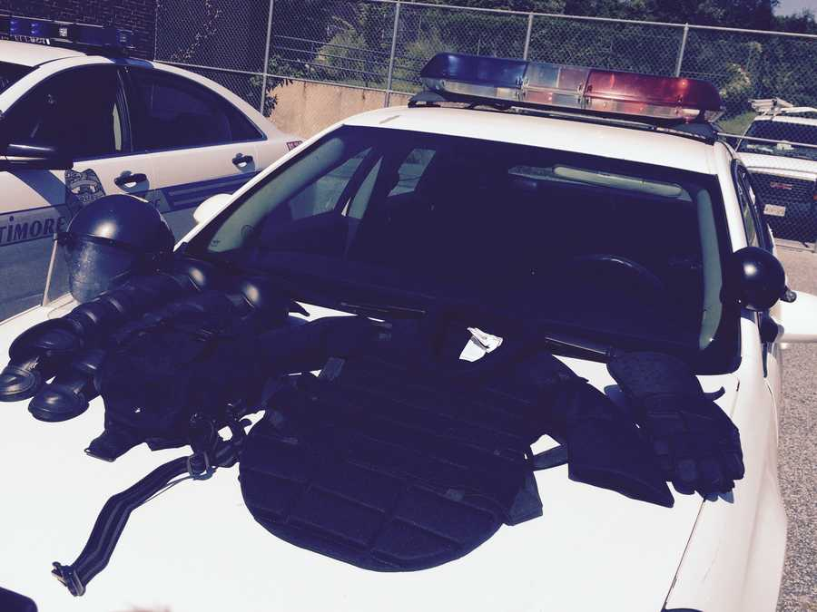 Baltimore Police Department receive new riot gear