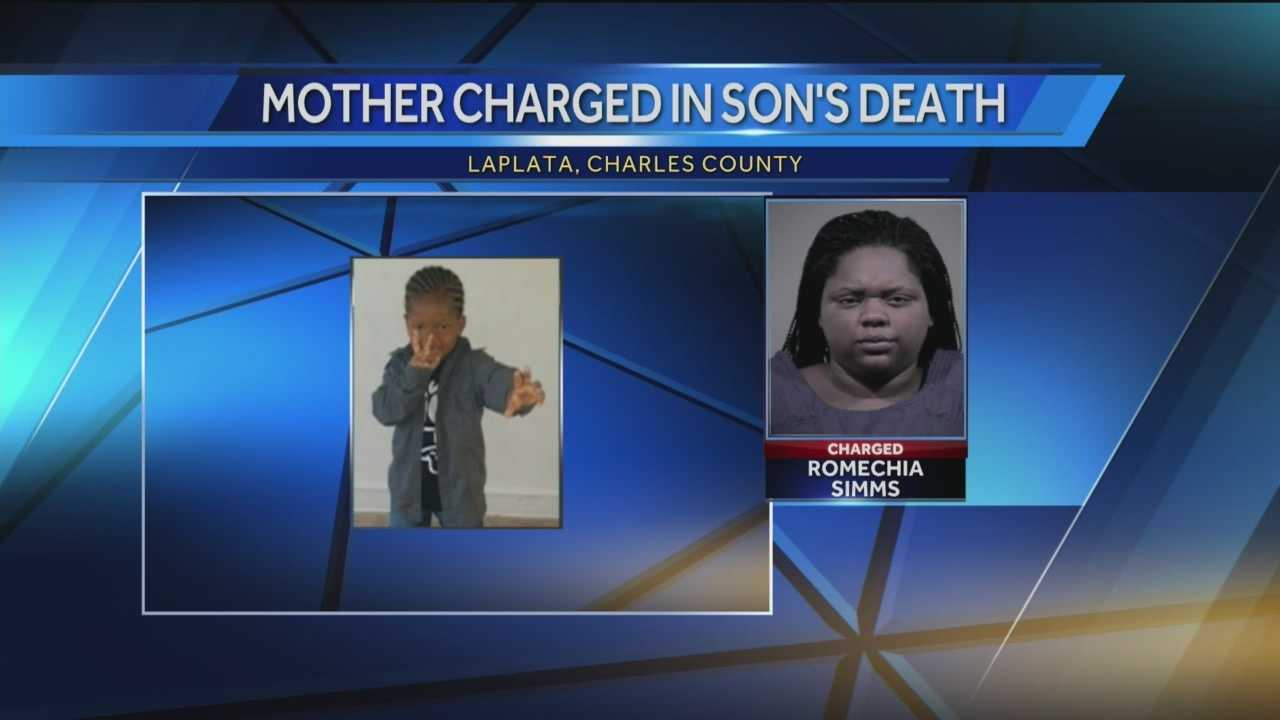 The Maryland woman who was found pushing her 3-year-old son's body in a playground swing earlier this year has been indicted on manslaughter charges, authorities announced Monday. Romechia Marie Simms, 24, has been charged with first-degree child abuse, manslaughter and child neglect. A Charles County grand jury handed down the indictment over the weekend.