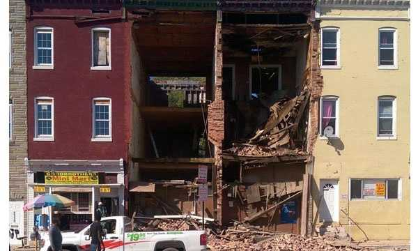 A building collapsed at the 2100 block of W North Avenue, officials said.