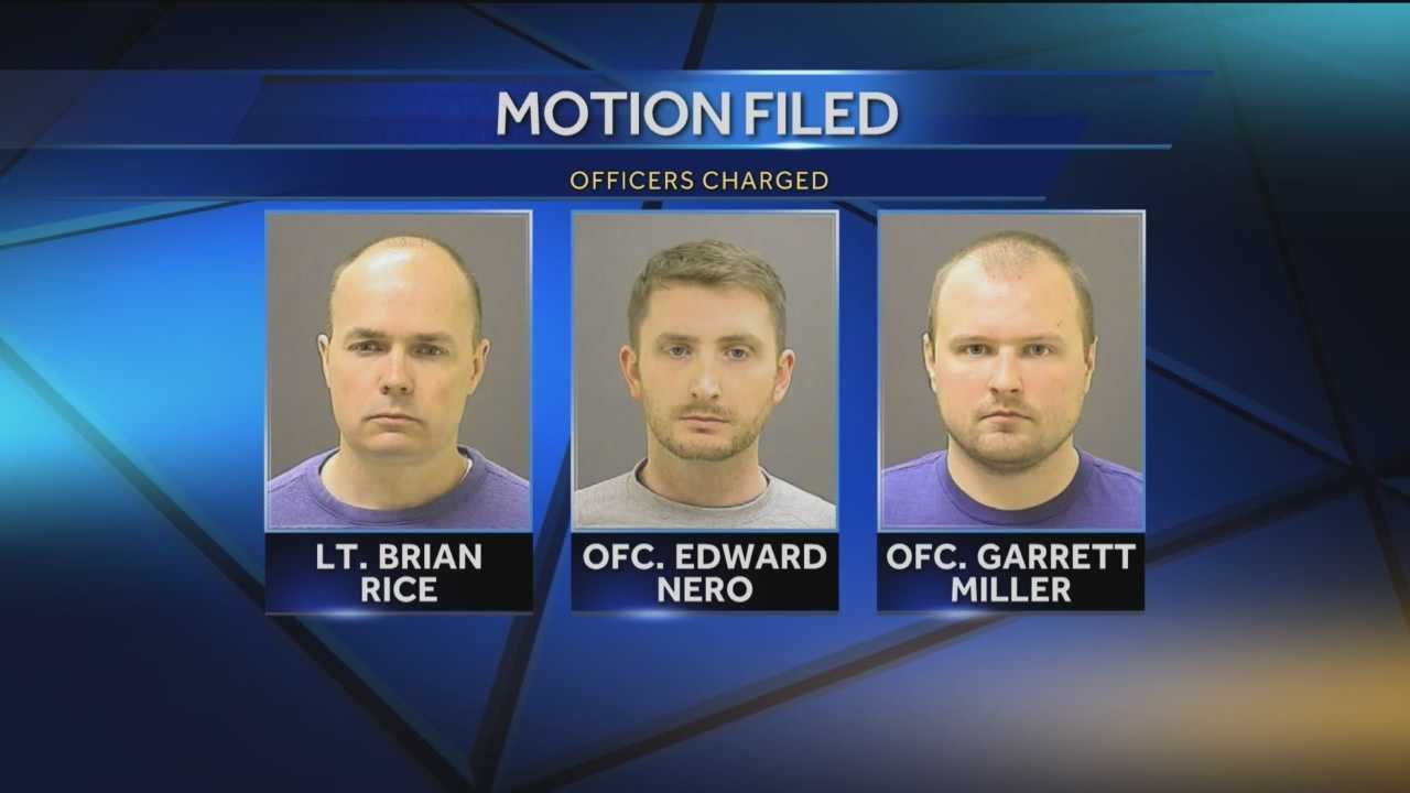 Attorneys for three of the officers charged in connection to the death of Freddie Gray are seeking to have at least some of the charges dropped in the case. Lawyers representing Lt. Brian Rice, Officer Edward Nero and Officer Garrett Miller should not be charged with reckless endangerment because not putting a seat belt on an arrested suspect is not a crime.