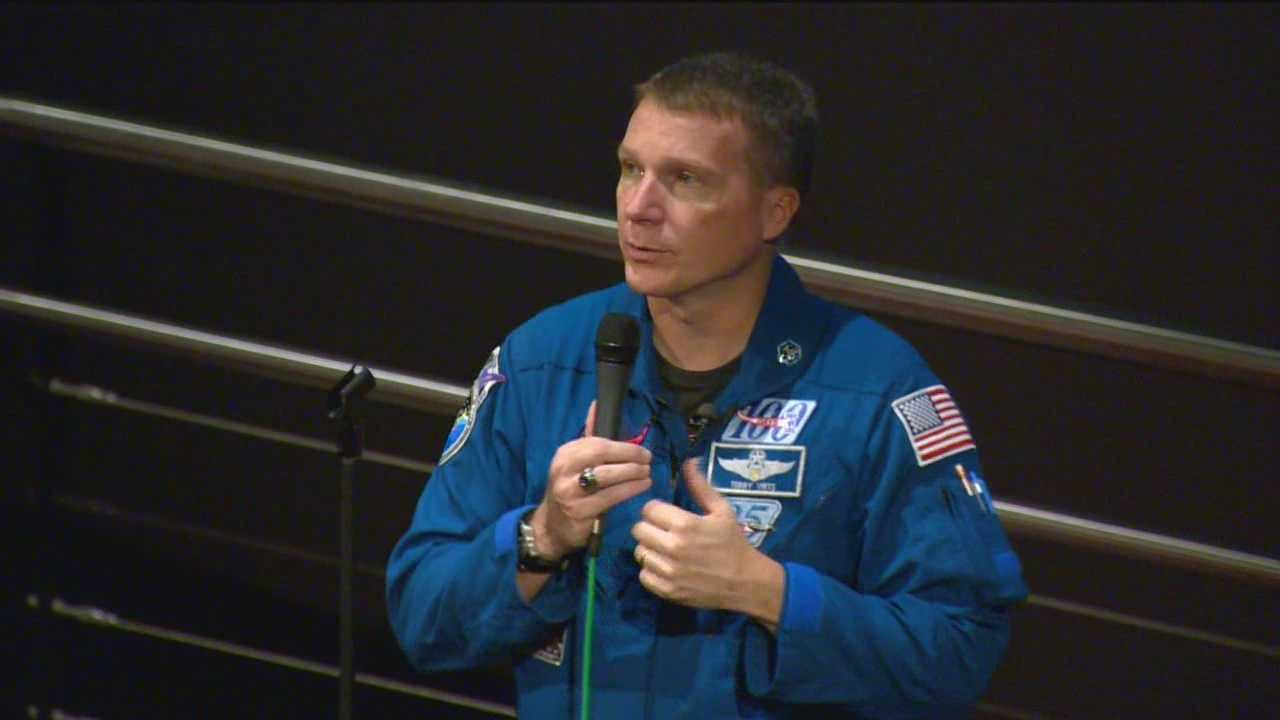 A Maryland astronaut had a quite a few stories to share with some Baltimore City elementary students. The stories seemed to pique their interest and get them thinking about careers in space. Astronaut Terry Virts had no problem holding the attention of students at the Maryland Science Center. It didn't take long for the students to make the connection between a real-life space mission and their own classroom assignments.