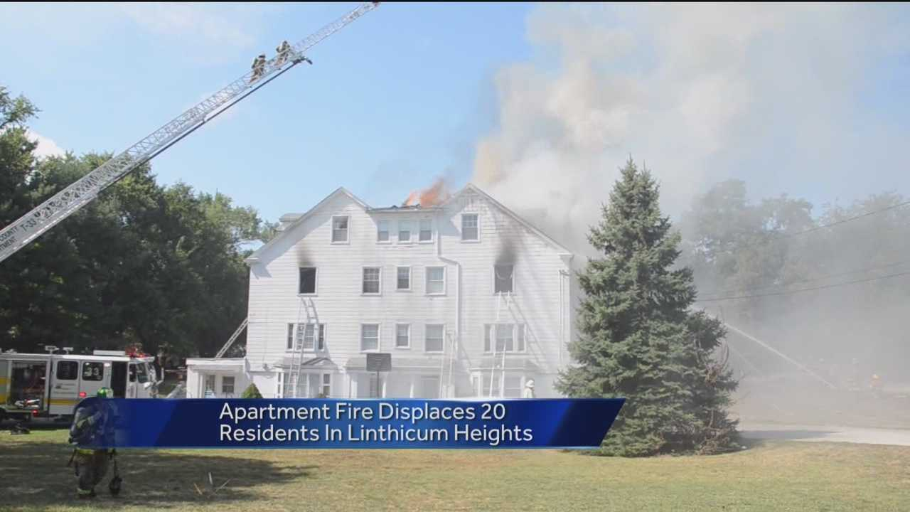 An apartment complex in Anne Arundel County caught fire Saturday morning. The fire happened at 200 West Maple Road in the Linthicum Heights area just before 11:15 a.m.