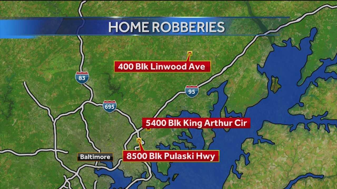 Two women have been arrested, but a man is still on the loose in connection to a series of home invasion robberies in Baltimore and Harford Counties. Police said William Wright, 34, is wanted for at least three robberies that stretched from Rosedale to Bel Air. Wright is suspected of entering the victims' homes and robbing them of money, jewelry and prescription drugs.