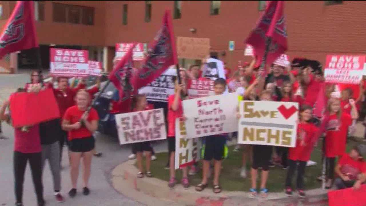 Residents in Carroll County rallied Monday night to express their concerns over the possible closing of North Carroll High School. The school district said student enrollment in Carroll County has declined in recent years and is expected to shrink even more in the next few years. This has led to school officials to examine how to save money and what schools they could possibly close.