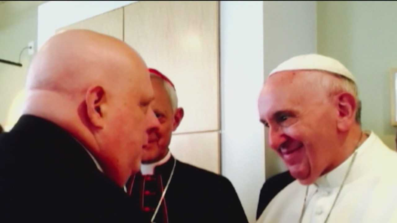 Maryland Gov. Larry Hogan became emotional Monday when he spoke with reporters about his meeting last week with Pope Francis. Hogan said he asked the pope to say a prayer for all of those afflicted with cancer. Francis obliged and told Hogan he was praying for him.