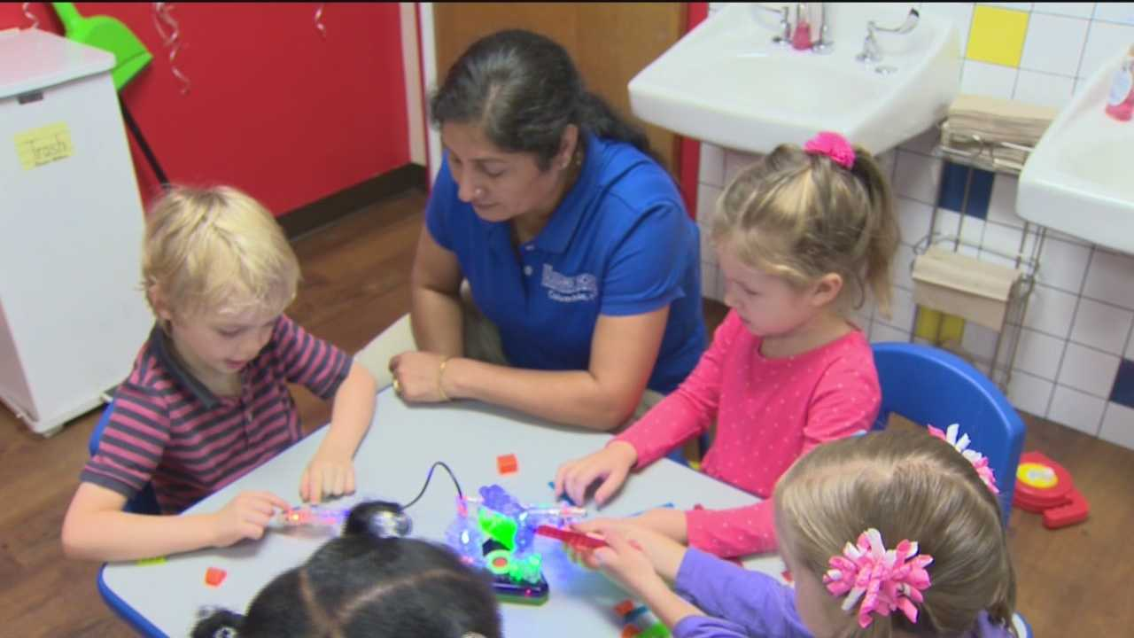 Pre-schoolers at one Howard County school are having a ball, doing what they do best: playing. But how they're playing and what they like and don't like about their toys is being closely scrutinized.