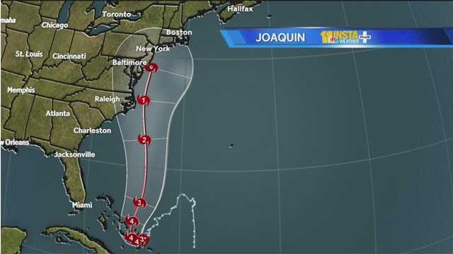 Powerful Hurricane Joaquin bore down Thursday on the lightly populated islands of the central and eastern Bahamas and forecasters said it could grow more intense while following a path that would near the U.S. East Coast by the weekend.
