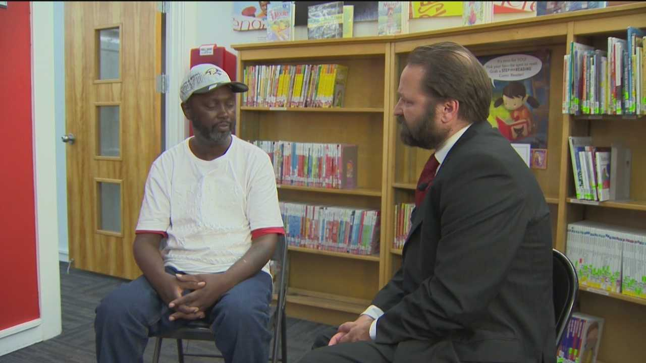 Reginald Williams is excited about his visit to the Pennsylvania Avenue Branch of the library. He's meeting with legal aid attorney Frank Natale as part of the Lawyer in the Library program there.