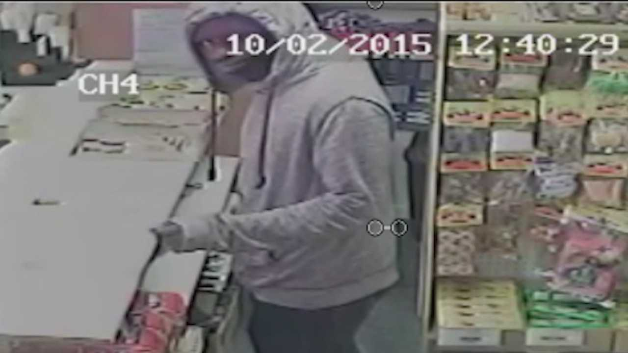 The FBI and Baltimore police are asking for the public's help in identifying the man who shot a store clerk Friday at the Hanover Mart on South Hanover Street. Investigators said the robber went in and demanded money from the clerk after buying coffee. He then pulled a handgun and shot the clerk in the arm. The clerk has since been released from a hospital and is recovering at home, the victim's son, Ammad Rehan, told 11 News.