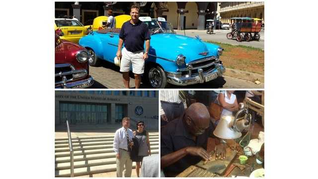Anne Arundel County Executive Steve Schuh was part of a delegation that traveled to Havana, Cuba on the first chartered flight to the island nation from BWL Marshall airport.