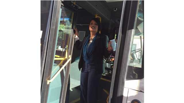 Baltimore Mayor Stephanie Rawlings-Blake announces the extension of the Charm City Circulator's Purple Route to 33rd Street.