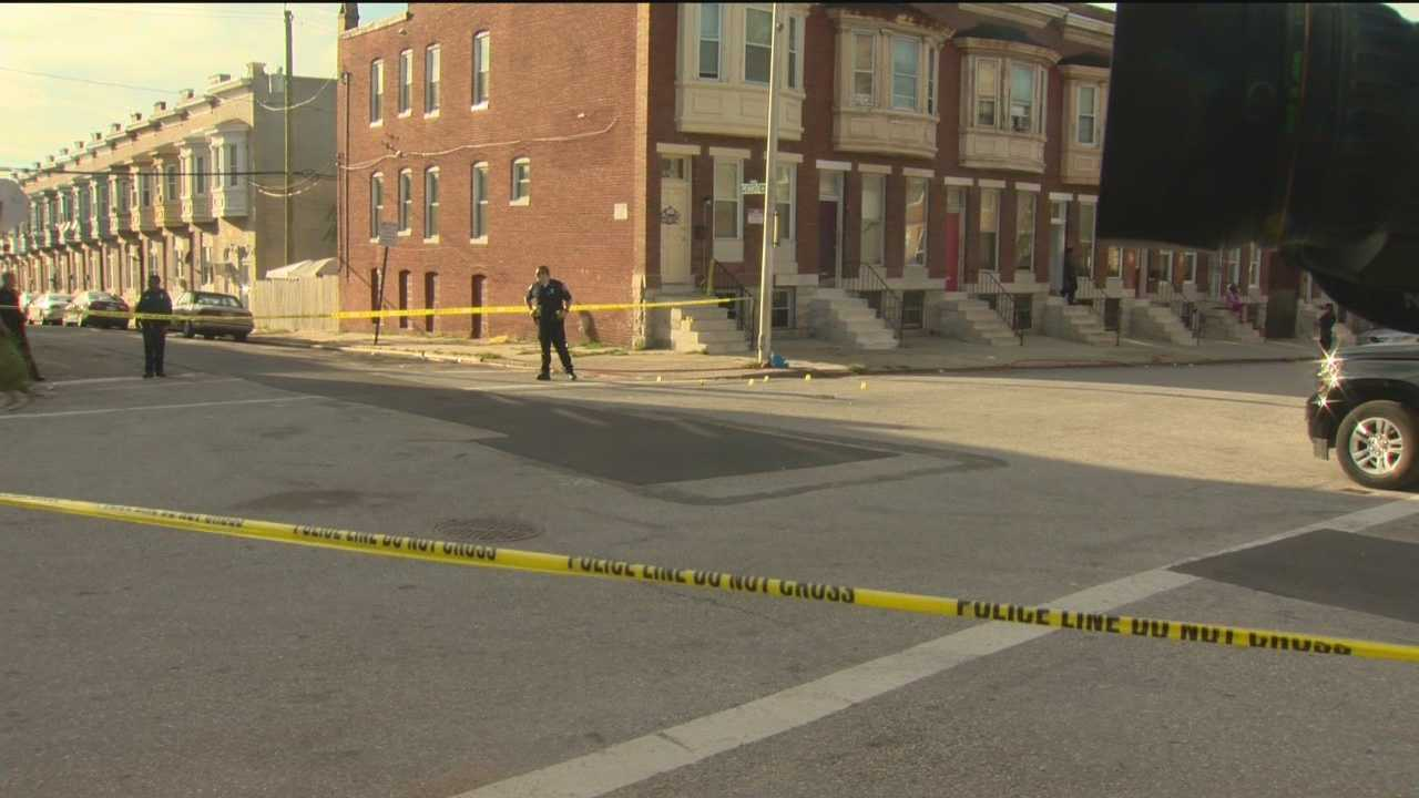 City police are searching for a lone gunman in a quintuple shooting in west Baltimore. Police said the shooting was reported around 3:40 p.m. in the 300 block of North Payson Street at West Saratoga Street. Police said the victims' injuries appear to be non-life-threatening. Some of the victims were taken to Shock Trauma.