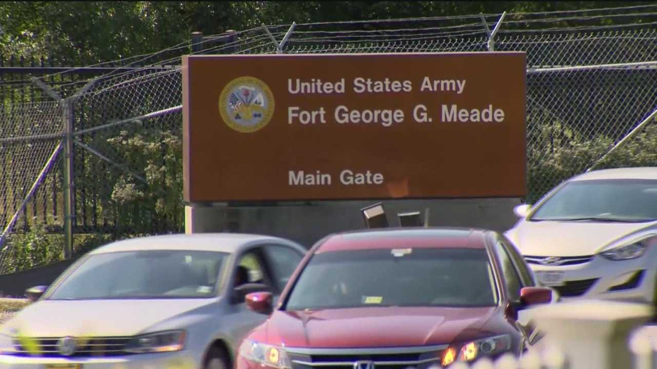 A carjacking suspect who led officers on a chase and crashed into a gate at Fort George G. Meade Wednesday night before getting away has been captured, Anne Arundel County police said.