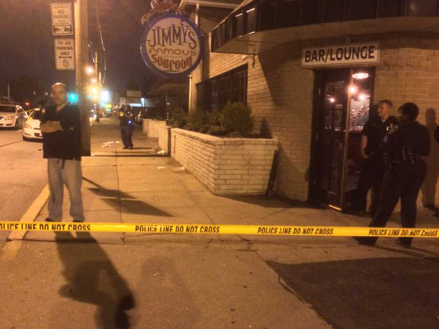 Police are on the scene after five people were stabbed in a fight at Jimmy's Famous Seafood