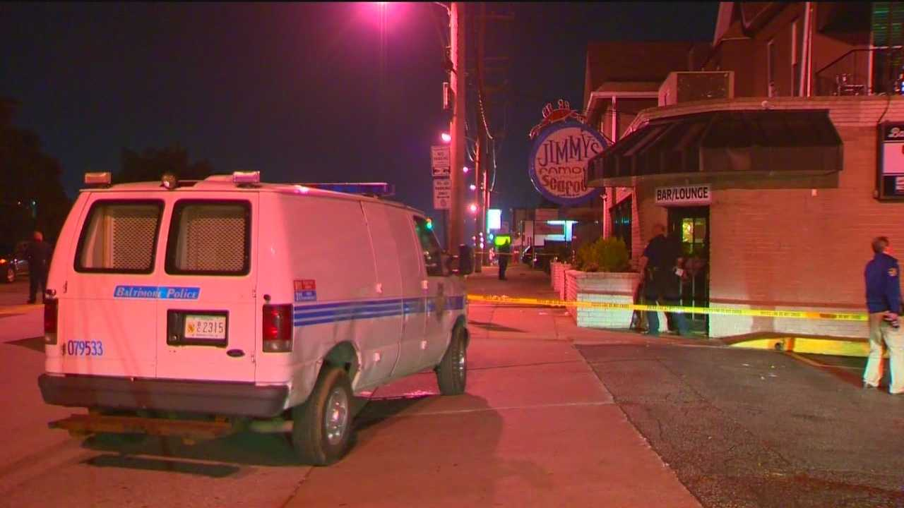 Four people are recovering from stab wounds Friday after trying to stop a sexual assault at a popular Baltimore restaurant, police said. The fight occurred around 1:30 a.m. at the restaurant at 6526 Holabird Ave. Baltimore police said four men ranging in ages from 22 to 29 suffered stab wounds. A 24-year-old woman had been punched or kicked. Witnesses told police that a man had sexually assaulted a woman on the second level of the restaurant. A male employee attempted to confront the man when he produced a knife and began assaulting other employees and patrons.