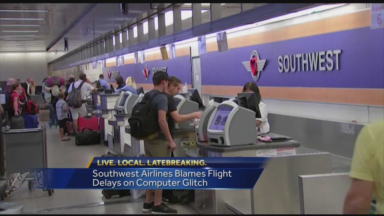 Southwest Airlines passengers experienced a bit of travel trouble, when the airline delayed hundreds of flights Sunday and overnight. The airline blamed a computer glitch for the problem. Southwest officials said they are using back-up systems around to check-in travelers. Some terminals even had to issue hand-written tickets.
