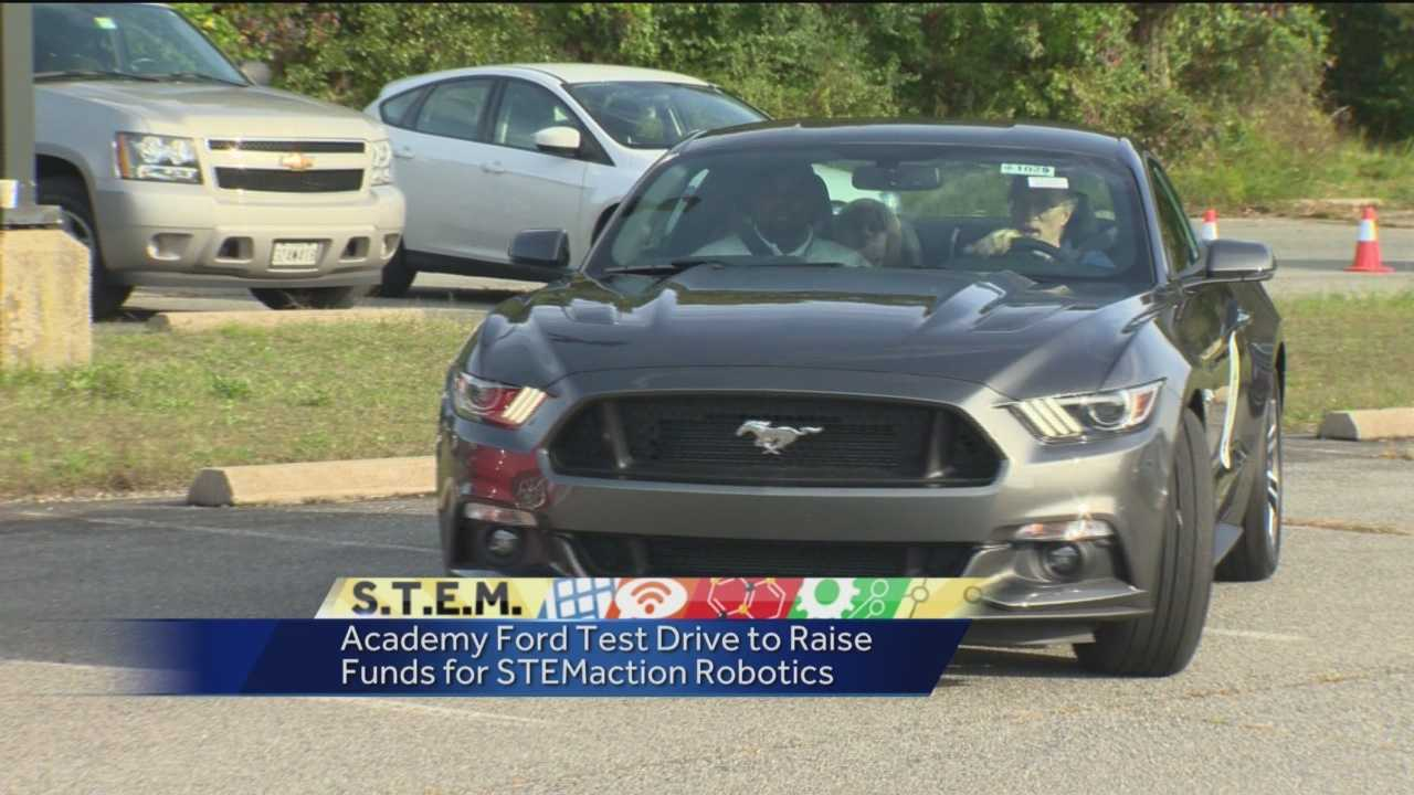 Local Ford dealers helped raise money for STEM programs in local schools. For every test drive Saturday, Academy Ford donated $20 toward STEMaction's robotics teams. The Laurel dealership committed to donating up to $6,000 to help the teams so they can travel to competitions