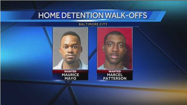 Police are looking for Marcel Patterson and Maurice Mayo whose home detention signals were lost.