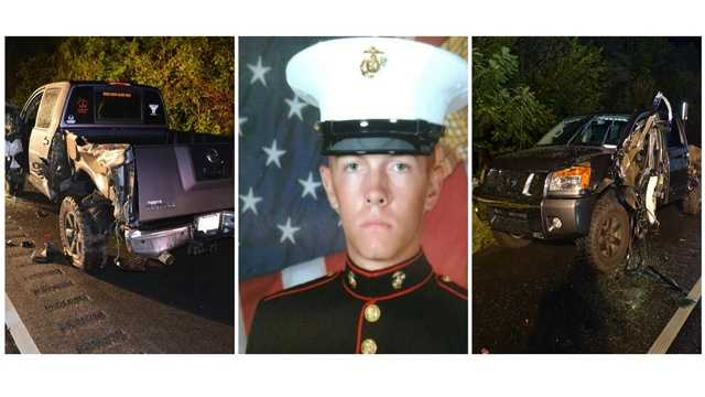Maryland State police released photos of the damaged truck of U.S. Marine Cpl. William Ferrell, who was struck and killed in a hit-and-run last month in Thurmont.