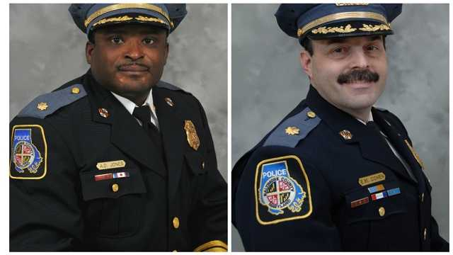 Alexander Jones and Evan M. Cohen are among 27 members of the Baltimore County Police Department to be promoted on Friday in a ceremony at Towson University.
