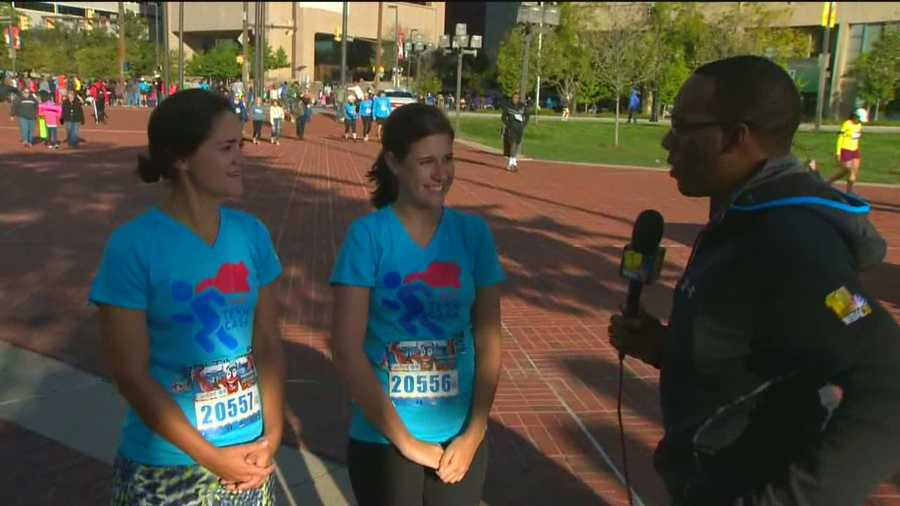 The Baxter sisters are part of Team CASA, a half-marathon team raising money for Court Appointed Special Advocates.