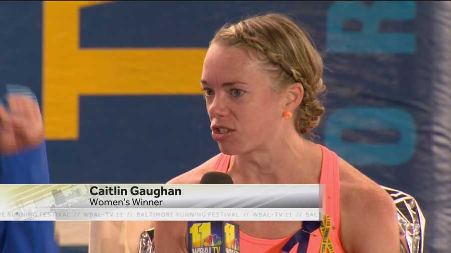 Caitlin Gaughan wins the 2015 Women's Baltimore Marathon. It is the first marathon win for the Pennsylvania native.
