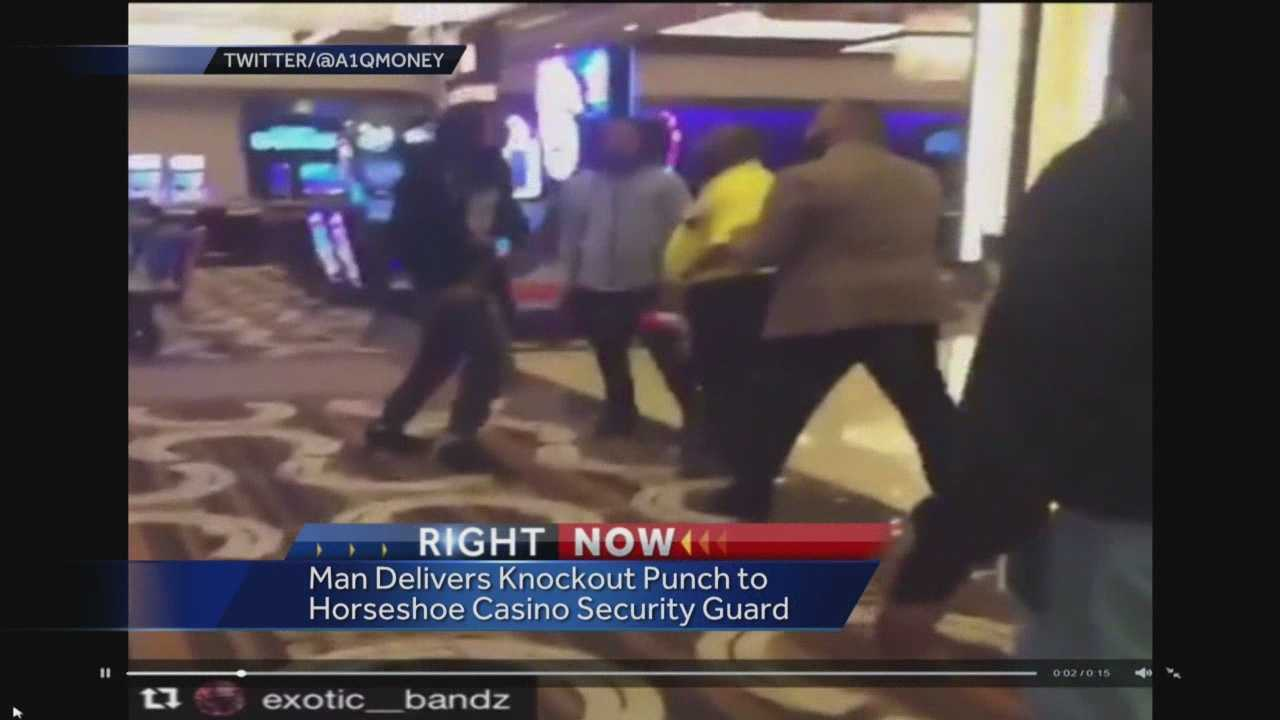 Baltimore City police are investigating a vicious attack caught on video at the Horseshoe Casino that left a security guard injured. The video shows several men attacking a security guard as one man delivers a knock-out punch to the guard.