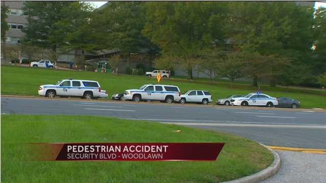 Two pedestrians were struck Tuesday in an accident at Security Boulevard and Gwynn Oak Avenue in Woodlawn