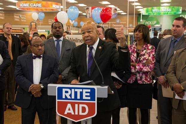 """""""For many people in this community, this Rite Aid is a lifeline,"""" Rep. Elijah Cummings said. """"It's not just a pharmacy, it is where they buy groceries for their families and diapers and other needs for their children. I applaud Rite Aid for being good corporate citizens, and I want other companies to take note and do the same."""""""