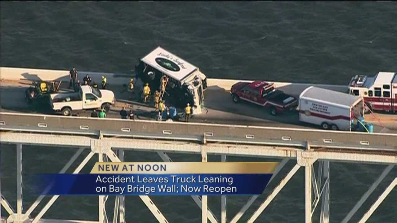 All eastbound lanes are now reopened on the Bay Bridge after a box truck flipped on its side Friday morning.