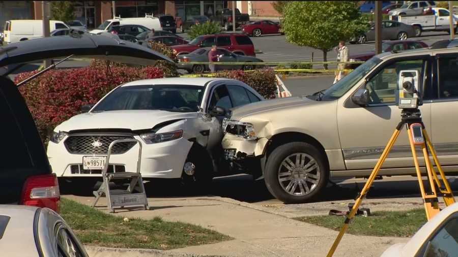 Maryland State Police said a trooper fatally shot a suspect Monday in Frederick. The trooper opened fire after an SUV rammed into a police car, pinning a Frederick police officer inside, state police said. The shooting was reported at a Sheetz gas station in the 1300 block of East Patrick Drive.
