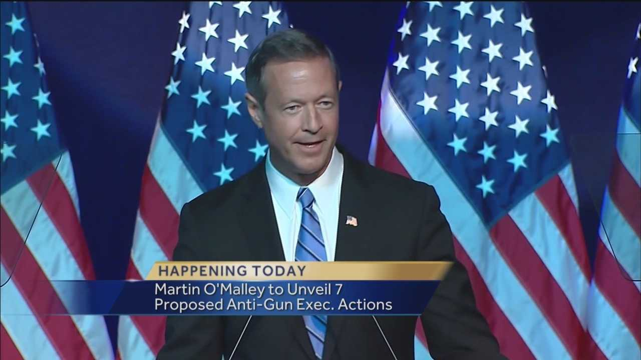 Democratic presidential candidate and former Maryland Gov. Martin O'Malley on Tuesday will roll out seven executive actions – including ending gun dealer immunity – he says he would take to curb gun violence if elected.