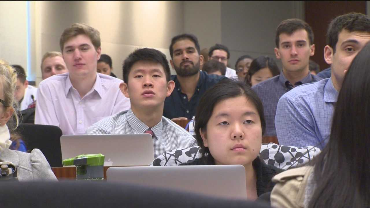First-year medical students at Johns Hopkins are learning about a rare genetic disorder. They are getting their information from books, research, labs and a child.