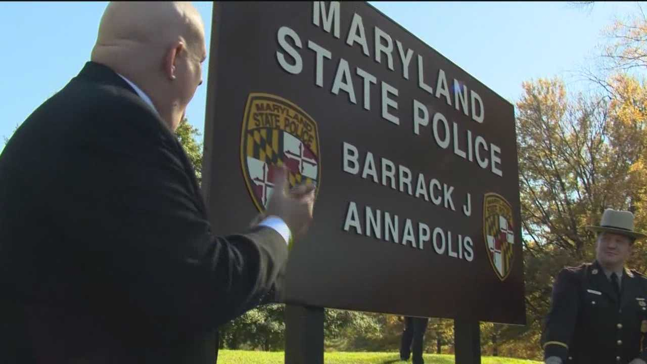Gov. Larry Hogan has announced the reopening of the state police barrack in Annapolis. Proclaiming that the Maryland State Police have a friend and advocate in the governor's office, Hogan officially reopened Barrack J in Annapolis on Tuesday, fulfilling a campaign promise and taking another swipe at former Gov. Martin O'Malley, who shut down the facility in 2008, citing financial reasons.