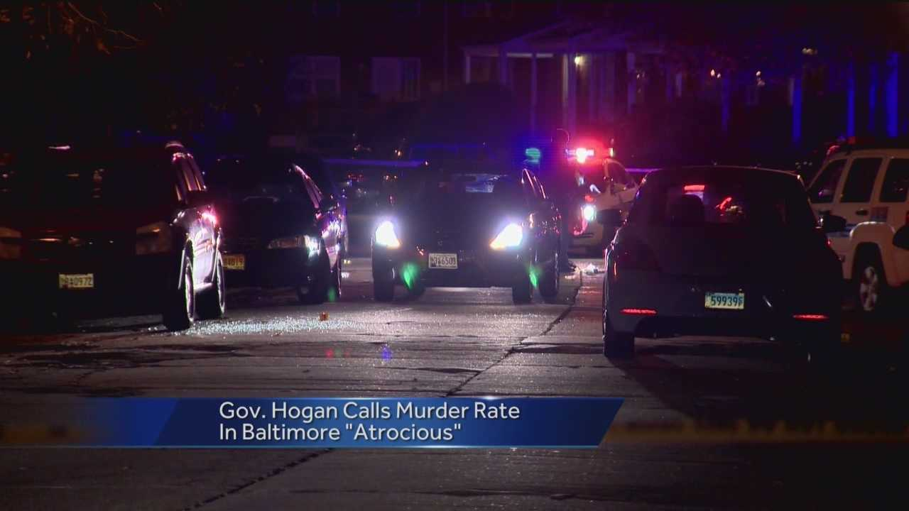 Both Gov. Larry Hogan and Mayor Stephanie Rawlings-Blake said the spike in crime in Baltimore is unacceptable and are continuing to look for solutions to the problem.