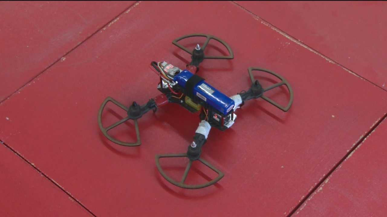 Drone flight has been a focus of a STEM program, which appears to be a positive experience for seniors like Justin Johnson and Ore'yana Taylor.