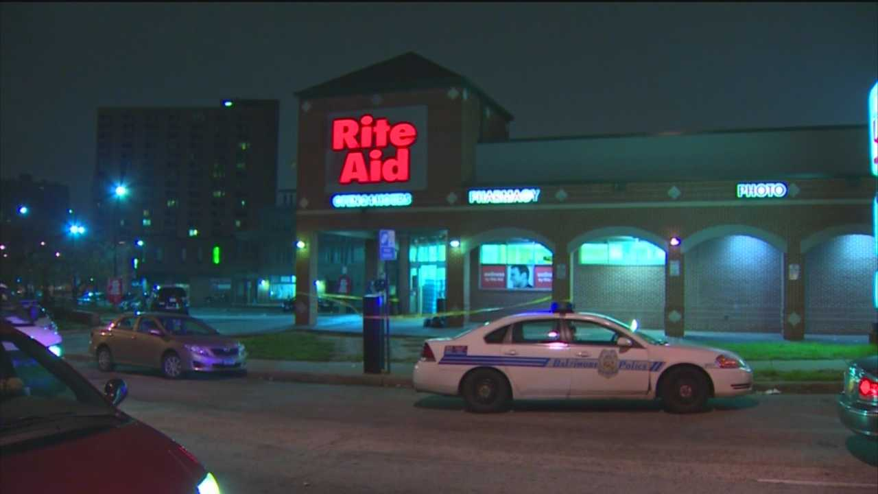 A man was shot in the leg during a robbery Friday morning at a pharmacy in midtown, Baltimore City police said.