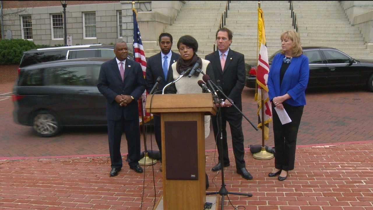 Local leaders throughout Maryland are urging the governor release funding for education. County executives and Baltimore's mayor joined forces Monday to get Gov. Larry Hogan to fully fund the Geographic Cost of Education Index. The elected officials from five jurisdictions said withholding the money has forced them to reduce much-needed opportunities for students.