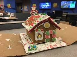 The WBAL-TV 11 News team makes gingerbread houses each year forThe Kennedy Krieger Institute's Festival of Trees.
