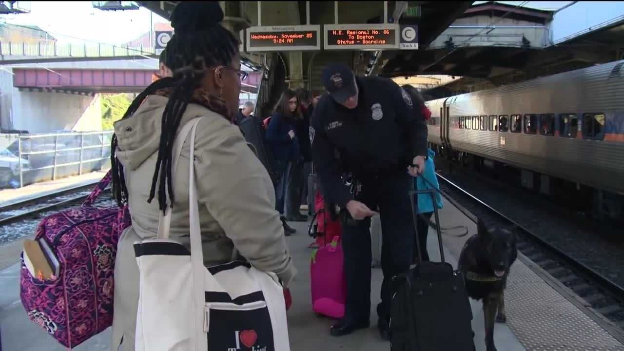 Millions are traveling in the Mid-Atlantic region this holiday season, and security will be at a premium, especially when it comes to rail travel. According to Amtrak, almost 150,000 people will travel by rail this Thanksgiving, and with that many people traveling, steps are being taken to keep people safe, including beefing up security at Baltimore's Penn Station. Amtrak said that because of the holiday rush, they've added extra trains and seats and, with that, more security.