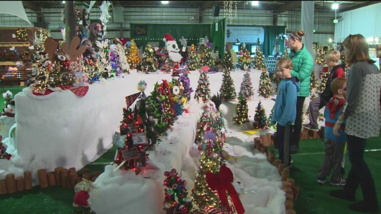 It's a winter wonderland inside the Cow Palace at the Timonium Fairgrounds. The area is transformed for a three-day Christmas tradition for the Kennedy Krieger festival of trees.