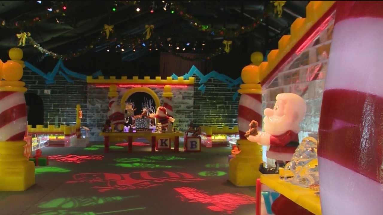 A huge Christmas-themed ice attraction at the Gaylord National Resort may make you cold, but it will warm your heart.